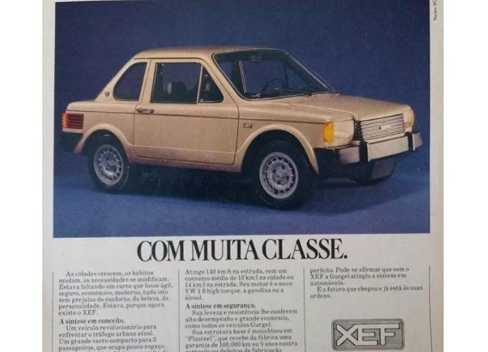 Gurgel XEF ปี 1985 รถเก๋งเล็กและคลุมเครือ