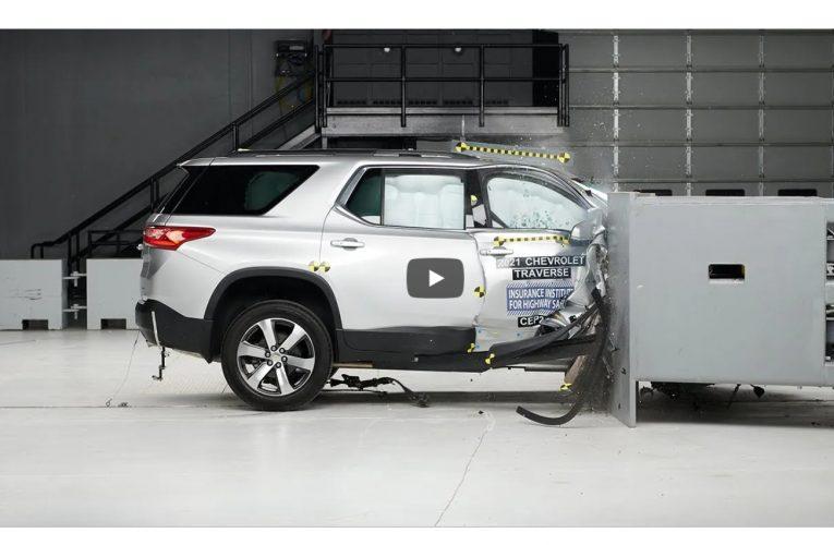2021 Chevy Traverse ได้รับ IIHS Top Safety Pick หลังจากทำการทดสอบการชนครั้งใหม่
