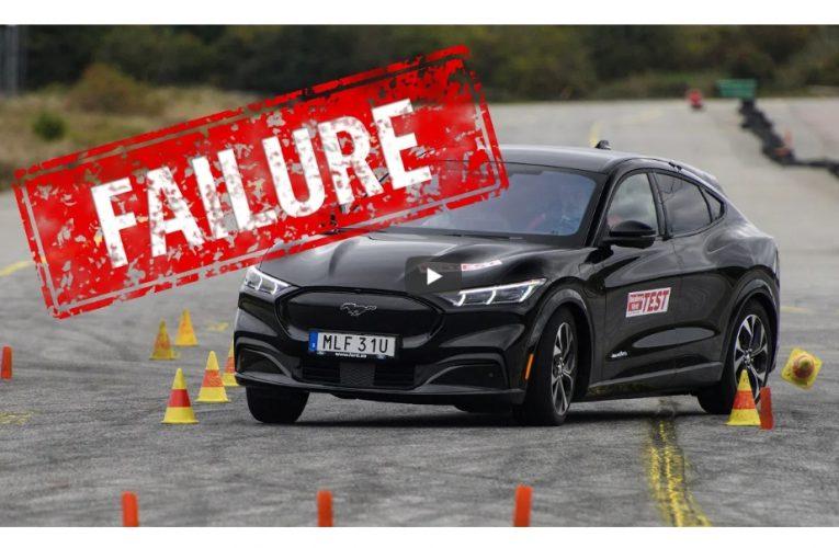 Ford Mustang Mach-E ล้มเหลวในการทดสอบกวางมูสของสวีเดน
